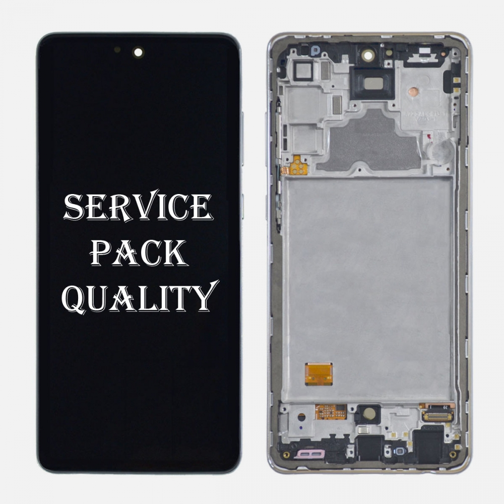 White Samsung Galaxy A72 (A725 | 2011) OLED Display LCD Touch Screen Digitizer (Service Pack)