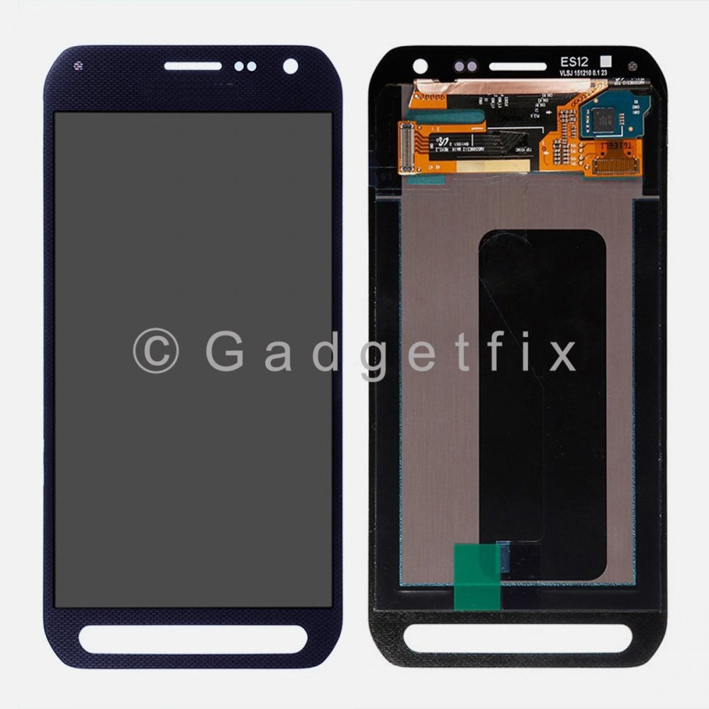 Blue Samsung Galaxy S6 Active G890 G890A LCD Display Touch Screen Digitizer