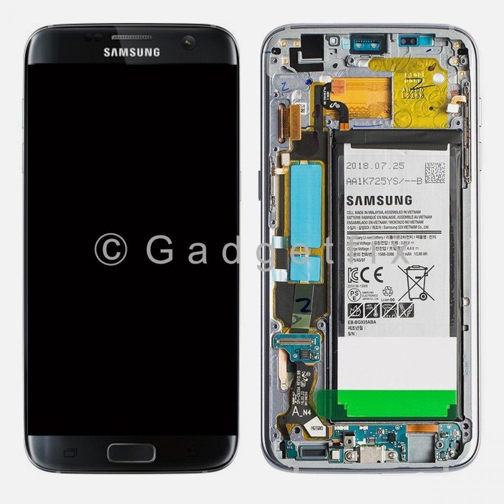 OEM Samsung Galaxy S7 Edge G935T G935A G935V G935P LCD Touch Screen Digitizer Frame + Battery