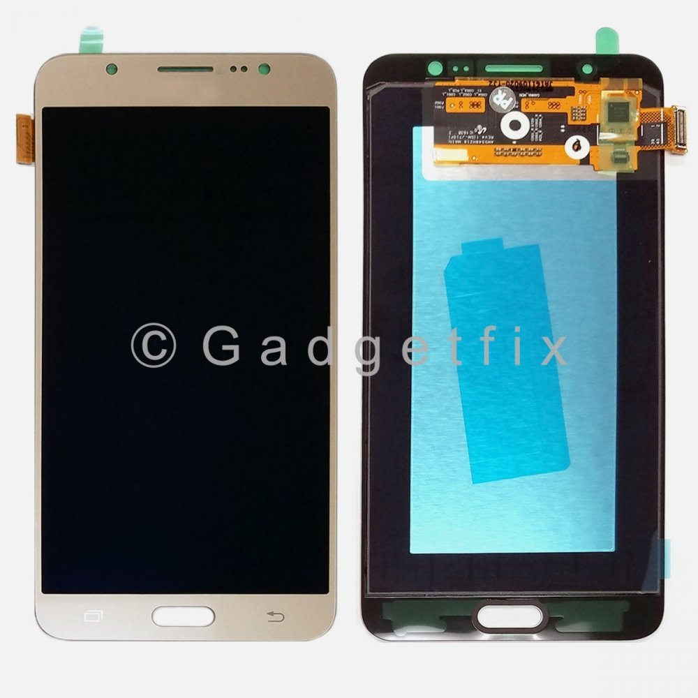Gold Samsung Galaxy J7 2016 J710 J710F J710K J710MN J7108 Display LCD Touch Screen Digitizer