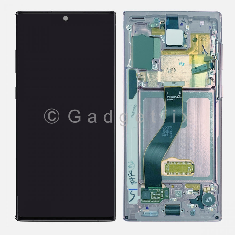 Aura Glow AMOLED LCD Touch Screen Digitizer + Frame For Samsung Galaxy Note 10