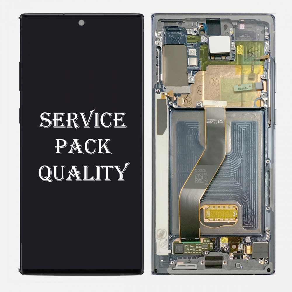 Glow AMOLED LCD Touch Screen Digitizer + Frame For Samsung Galaxy Note 10+ Plus | 5G (Service Pack)