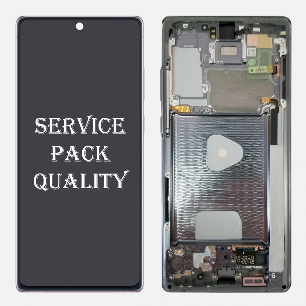 Gray OLED Display LCD Touch Screen Digitizer + Frame for Samsung Galaxy Note 20 (Service Pack)