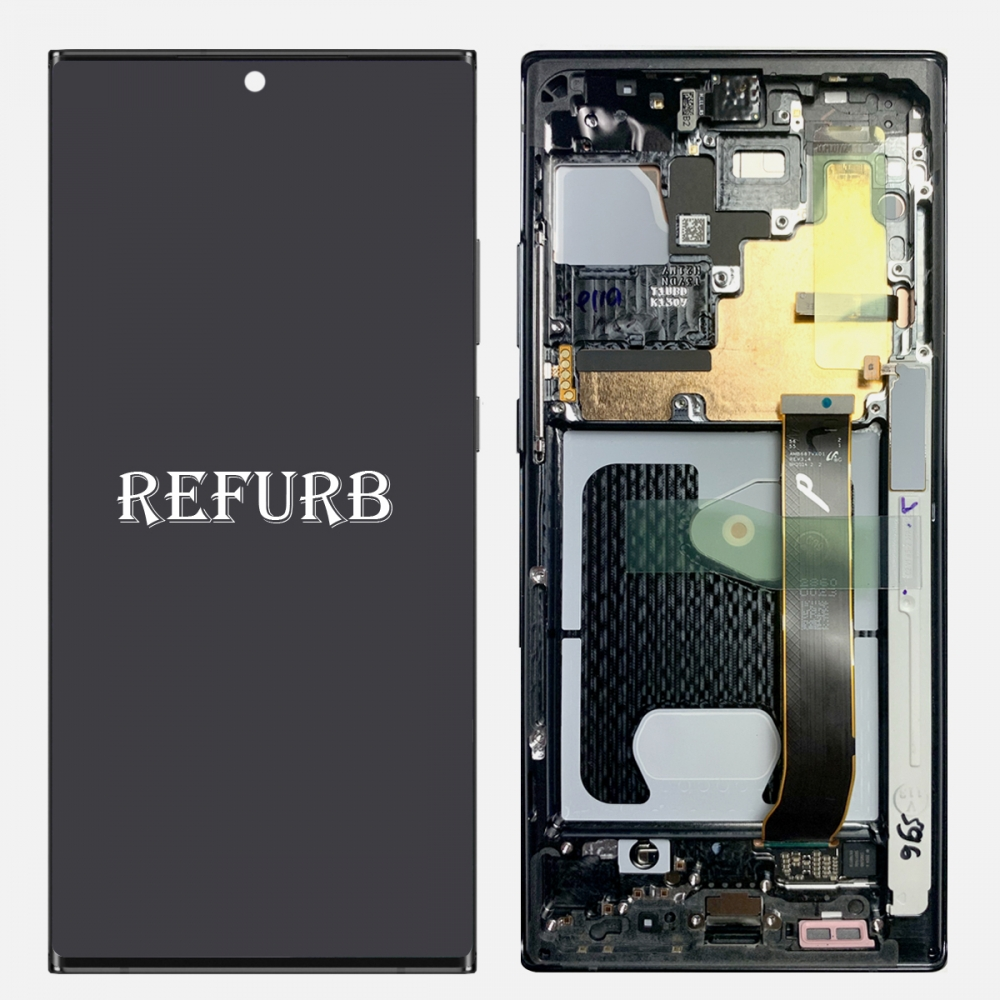 Black Samsung Galaxy Note 20 Ultra OLED Display LCD Touch Screen Digitizer Frame