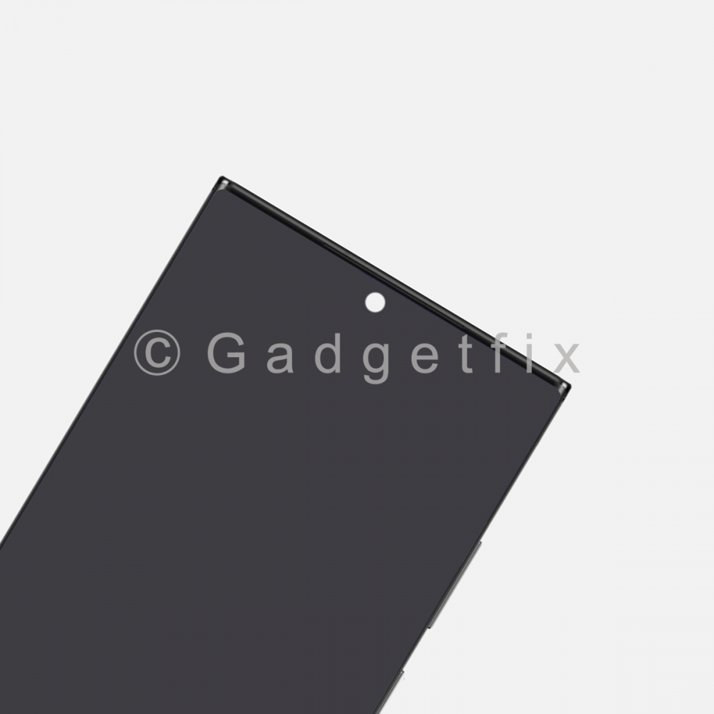 Black Display LCD Touch Screen Digitizer Frame for Samsung Galaxy Note 20 Ultra (Service Pack)