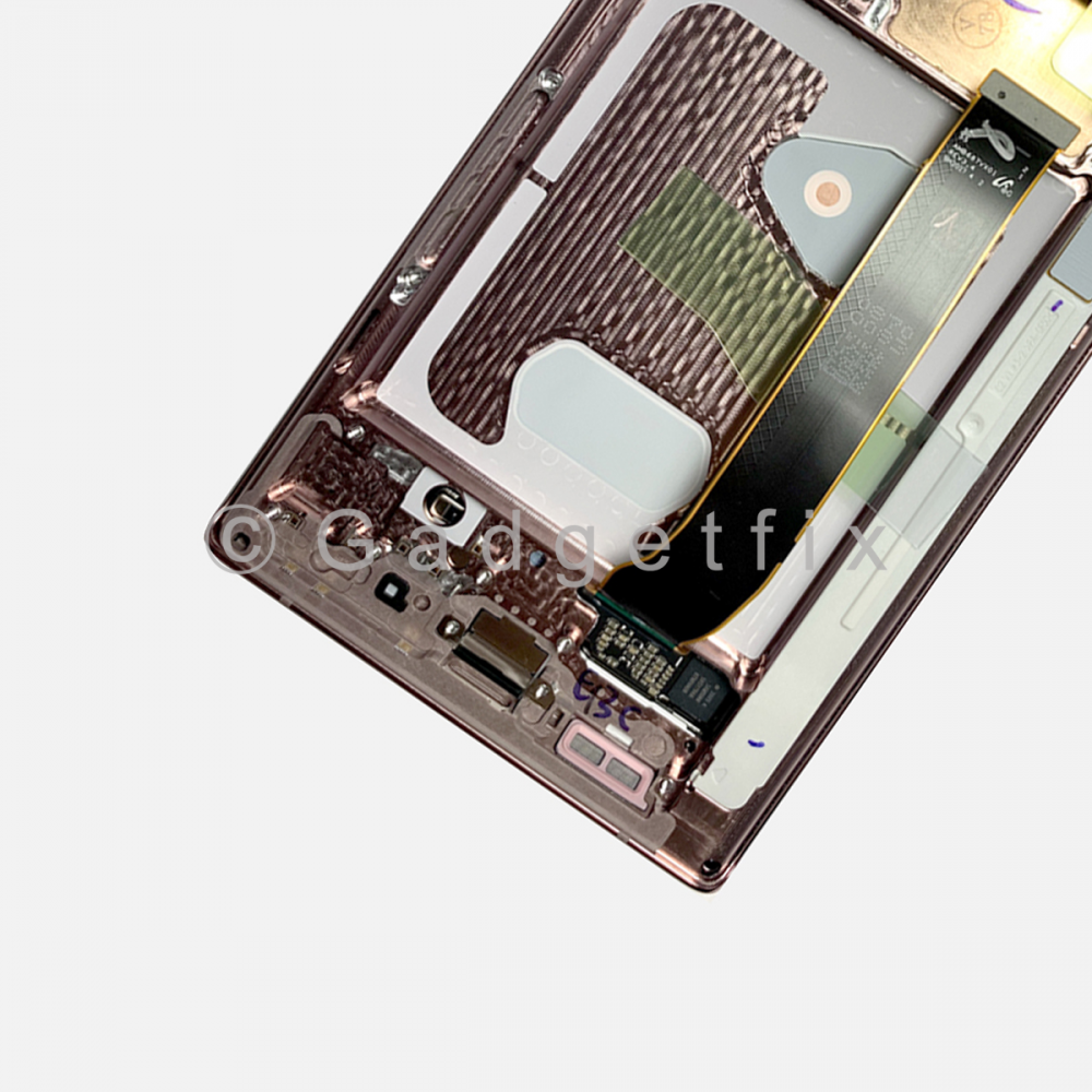 Bronze Samsung Galaxy Note 20 Ultra OLED Display LCD Touch Screen Digitizer Frame (Service Pack)