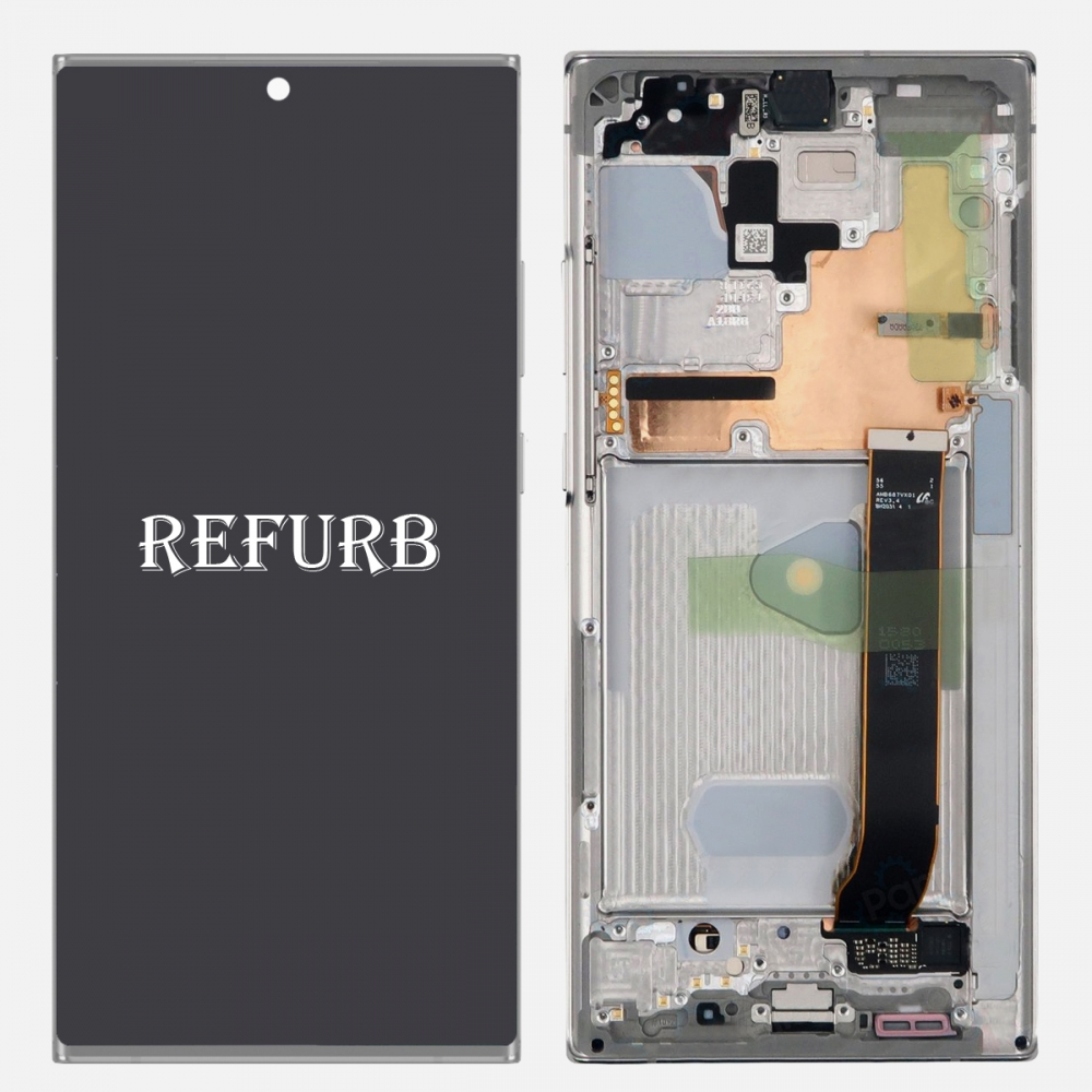 White Samsung Galaxy Note 20 Ultra OLED Display LCD Touch Screen Digitizer Frame