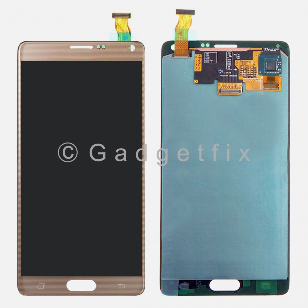 New Gold Samsung Galaxy Note 4 N910V N910P N910A N910T LCD Touch Screen Digitizer