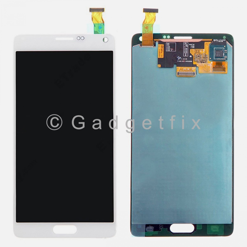 White Samsung Galaxy Note 4 N910 N910A N910T N910V N910P LCD Touch Screen Digitizer