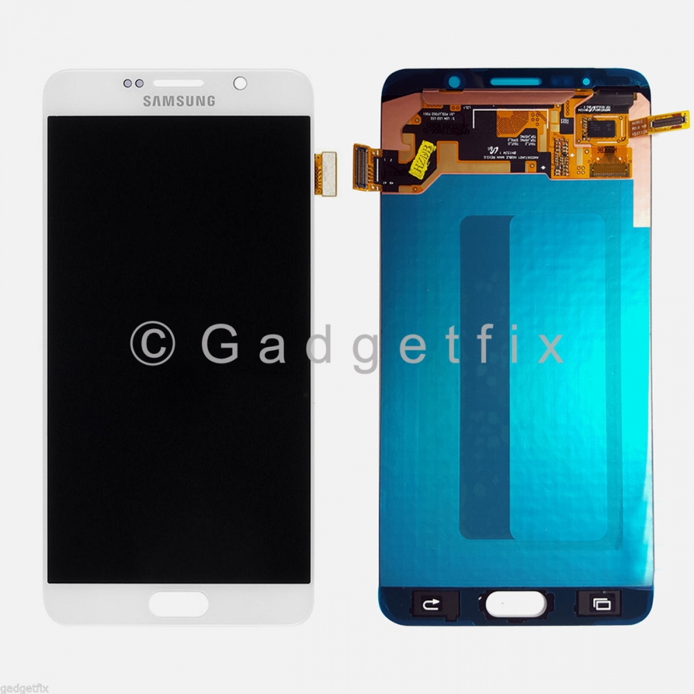 White Samsung Galaxy Note 5 N920 N920F N920A N920T N920V N920P LCD Touch Screen Digitizer
