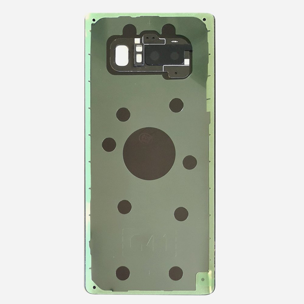 Black Back Cover Glass Battery Door Camera Lens + Adhesive for Samsung Galaxy Note 8