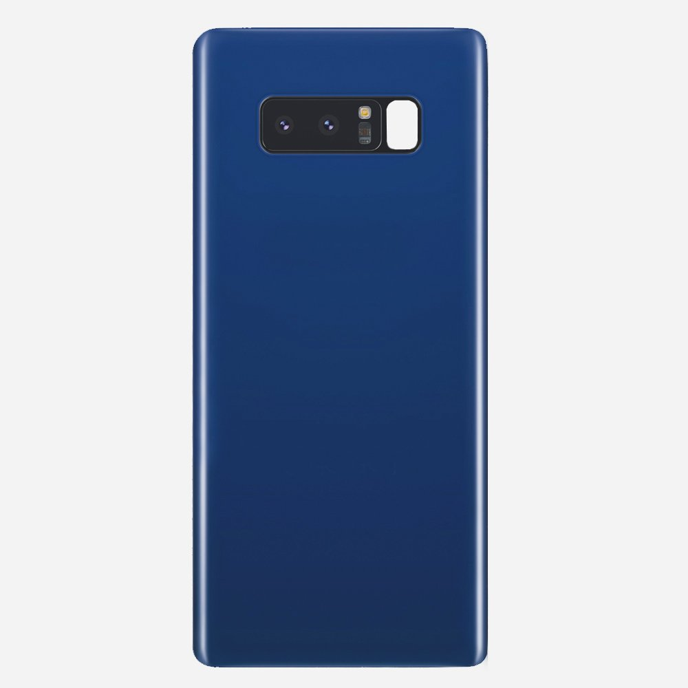 Blue Back Cover Glass Battery Door Camera Lens + Adhesive for Samsung Galaxy Note 8
