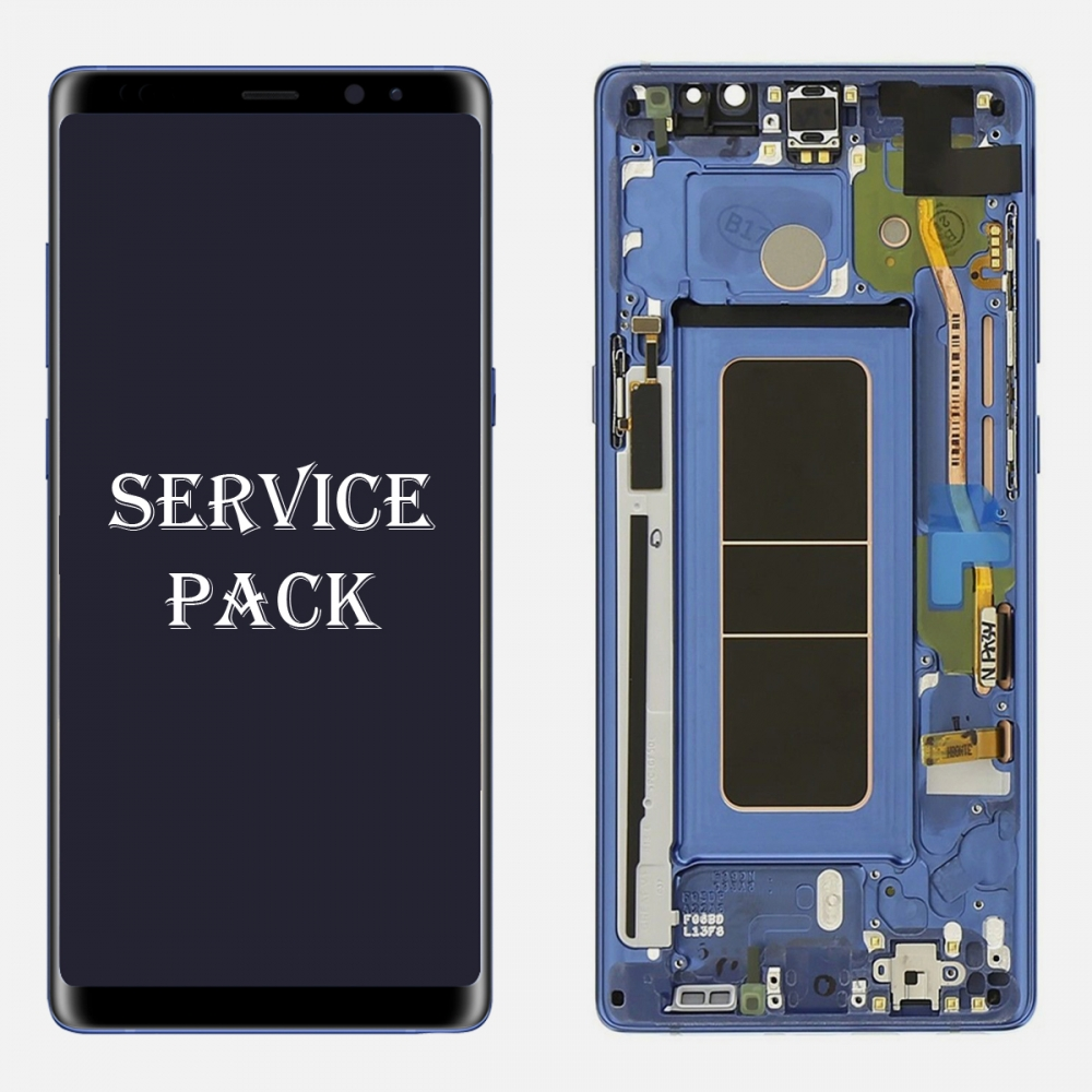 Blue LCD Display Touch Screen Digitizer Frame For Samsung Galaxy Note 8 (Service Pack)