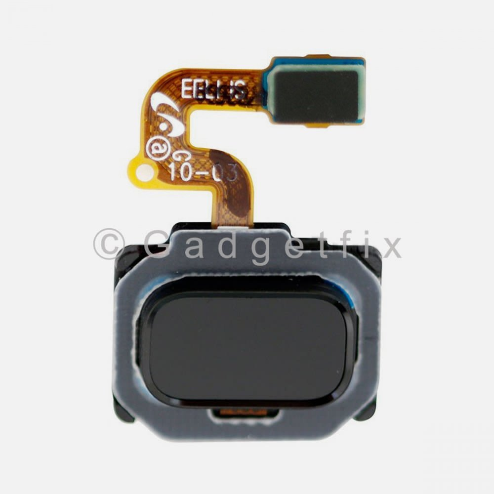Black Fingerprint Scanner Sensor Button Flex For Samsung Galaxy Note 8