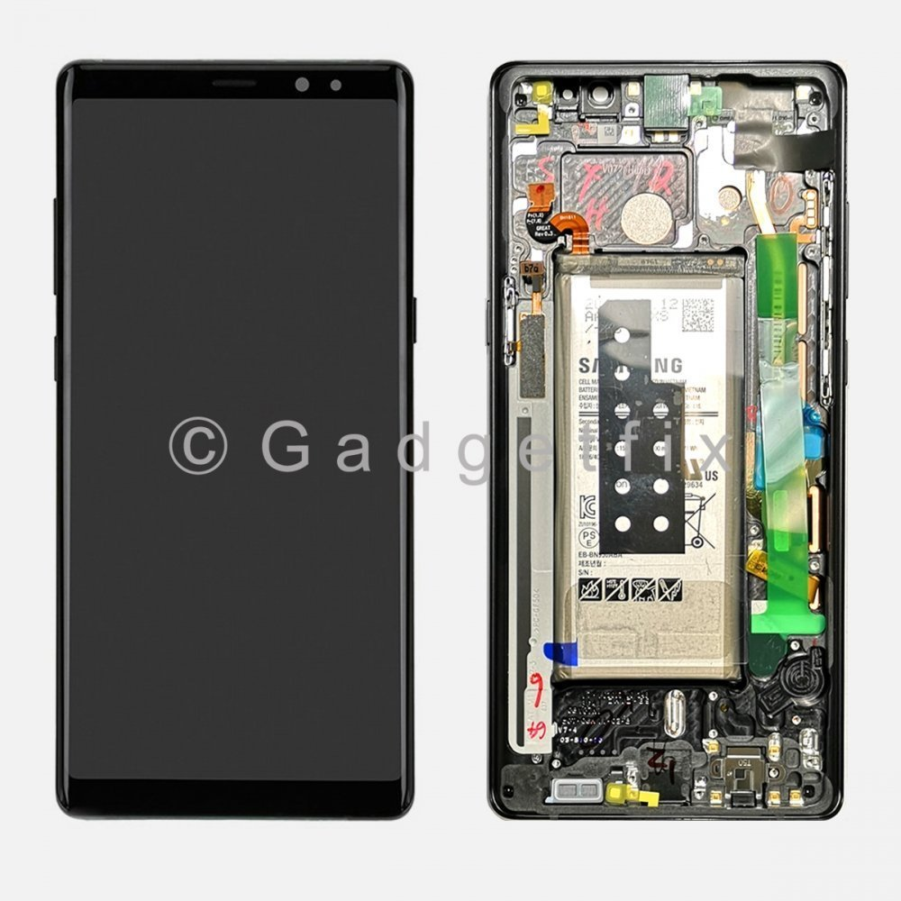 LCD Touch Screen Digitizer Frame + Battery For Samsung Galaxy Note 8 (Service Box)