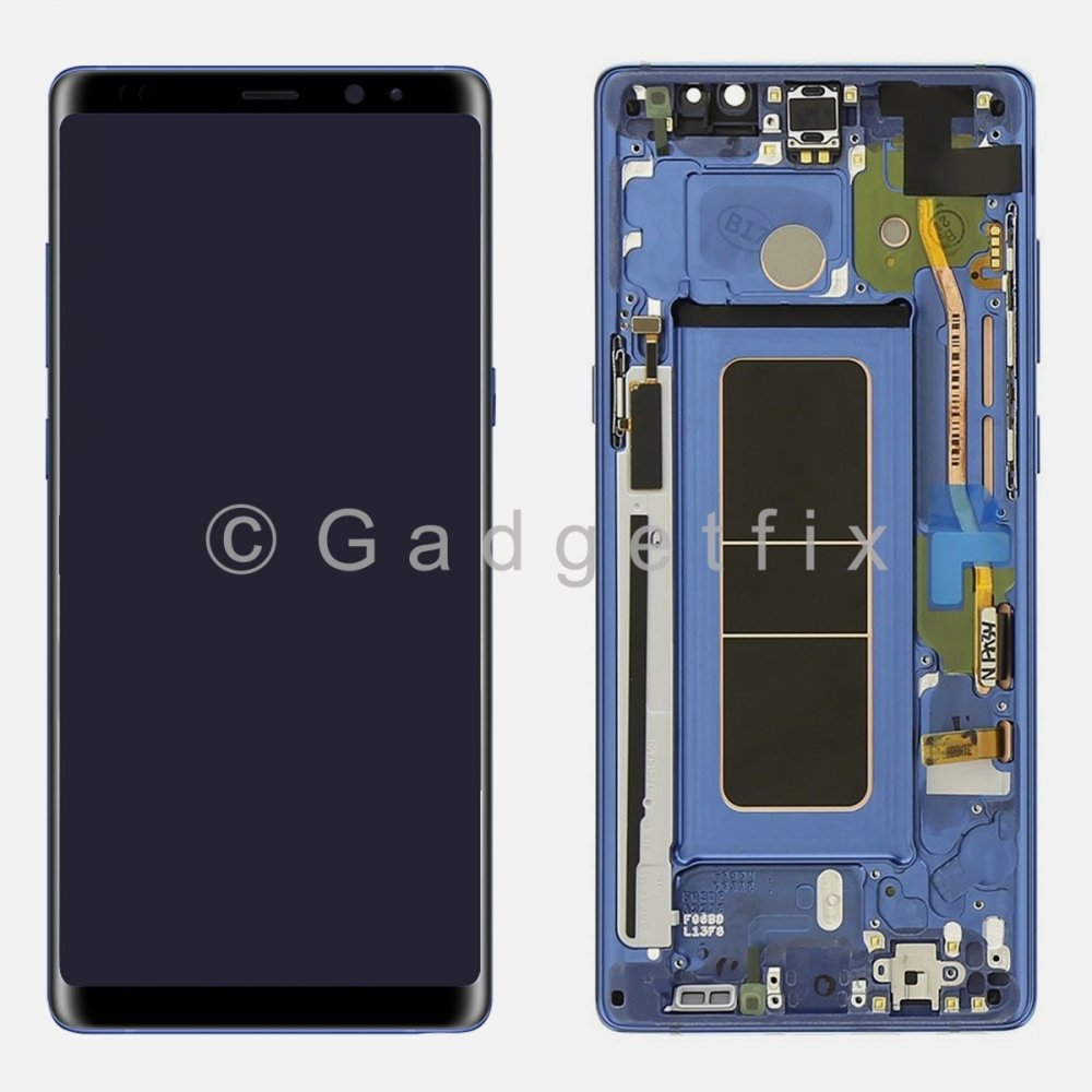 Blue LCD Display Touch Screen Digitizer Frame Assembly For Samsung Galaxy Note 8