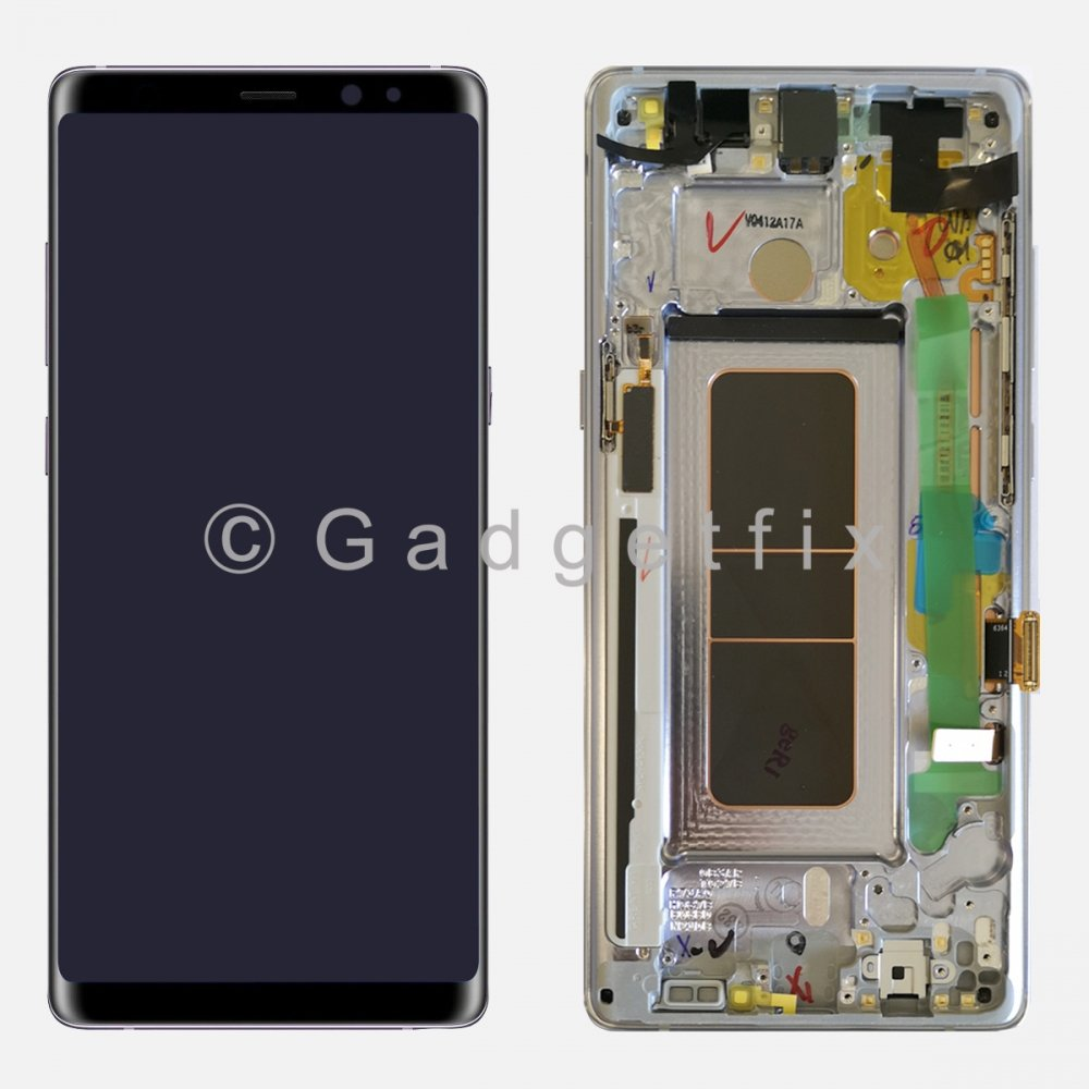 Orchid Gray LCD Display Touch Screen Digitizer + Frame For Samsung Galaxy Note 8