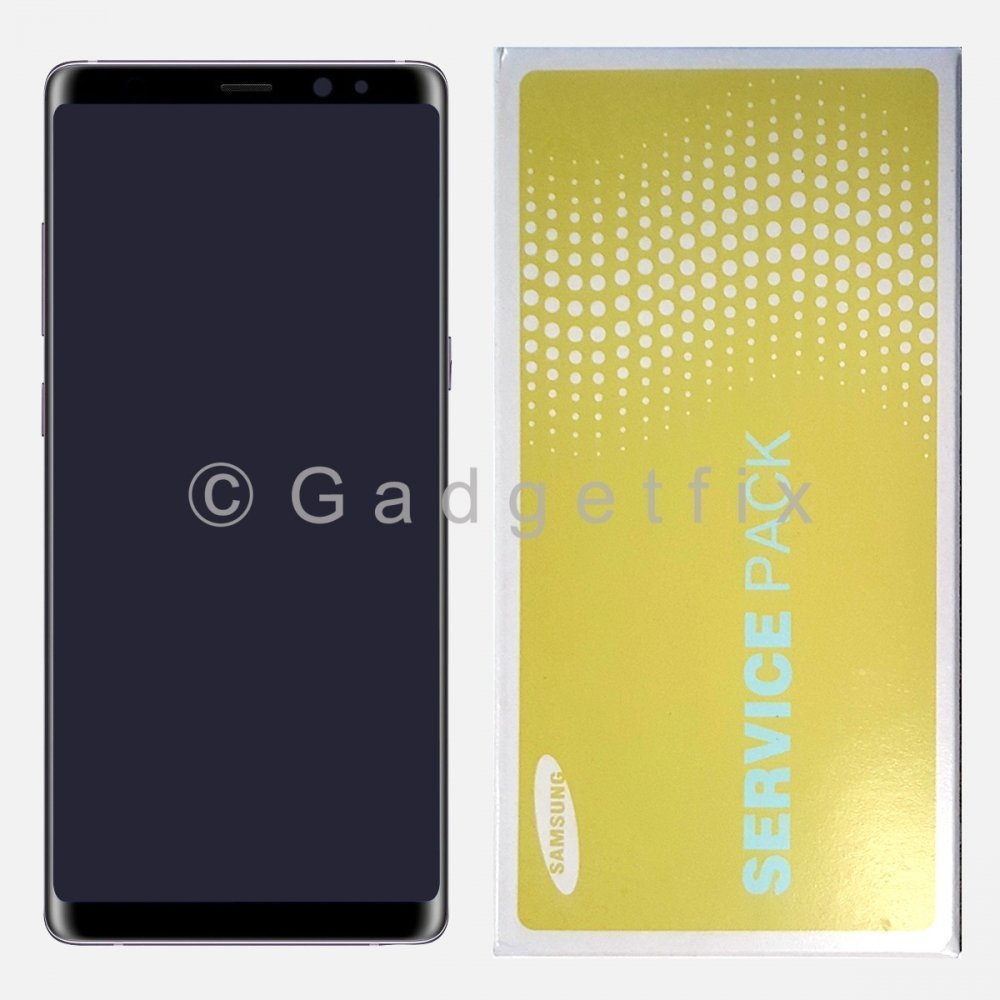 Gray LCD Display Touch Screen Digitizer Frame For Samsung Galaxy Note 8