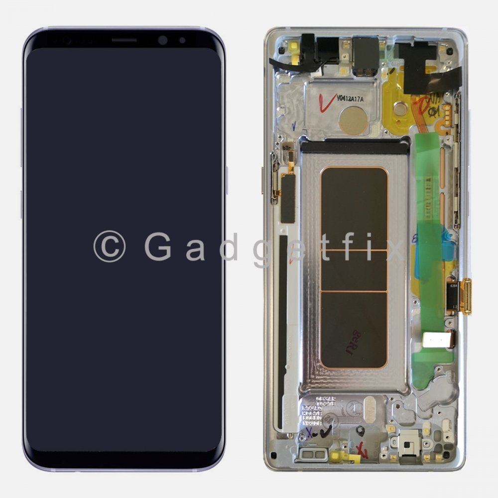 Gray LCD Display Touch Screen Digitizer Frame For Samsung Galaxy Note 8 (Service Box)