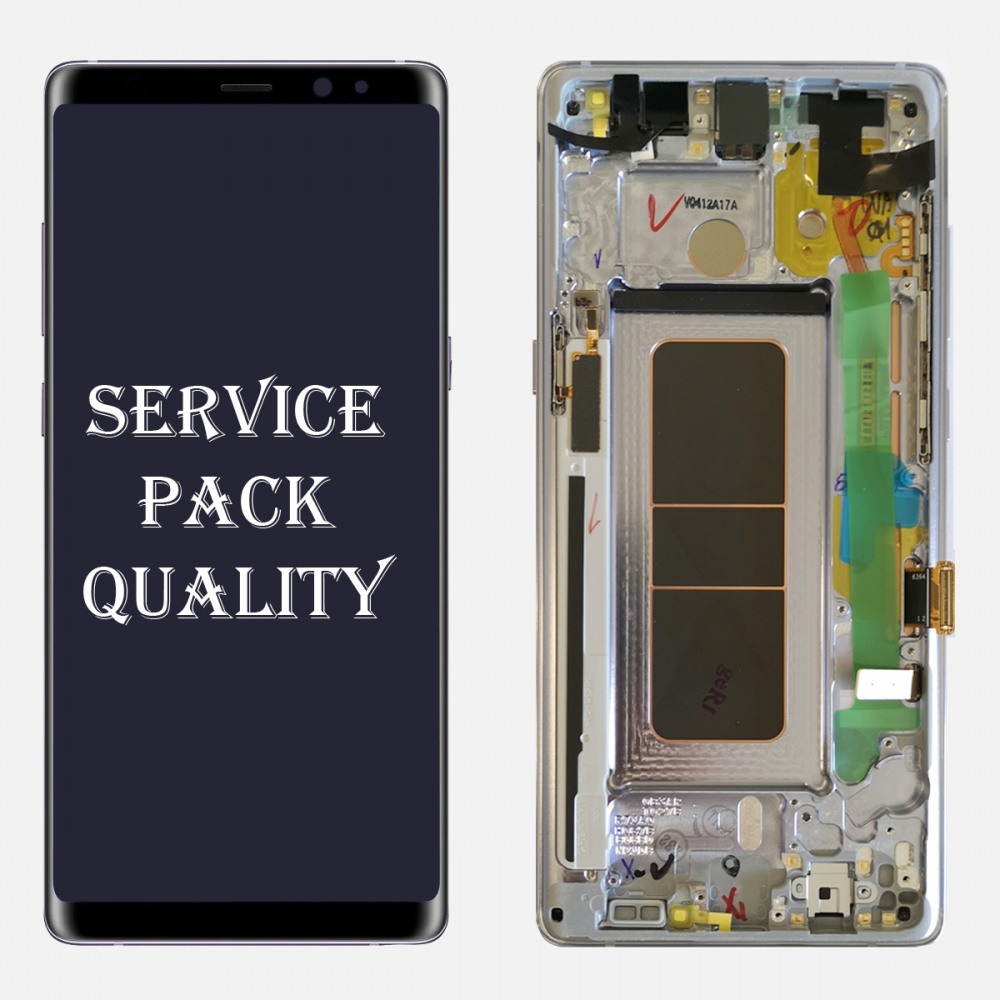 Gray LCD Display Touch Screen Digitizer Frame For Samsung Galaxy Note 8 (Service Pack)