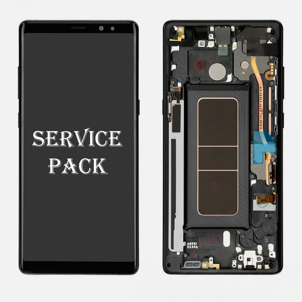 Black LCD Touch Screen Digitizer Frame For Samsung Galaxy Note 8 (Service Pack)