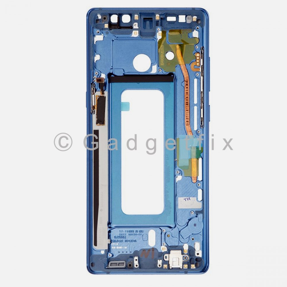 Blue Samsung Galaxy Note 8 LCD Holder Middle Housing Frame Bezel Mid Chassis