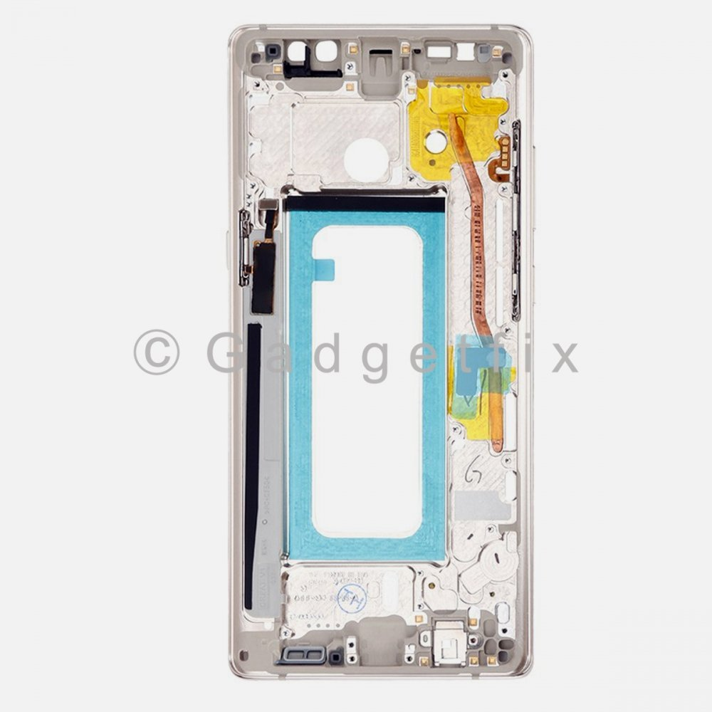 Gold Samsung Galaxy Note 8 LCD Holder Middle Housing Frame Bezel Mid Chassis