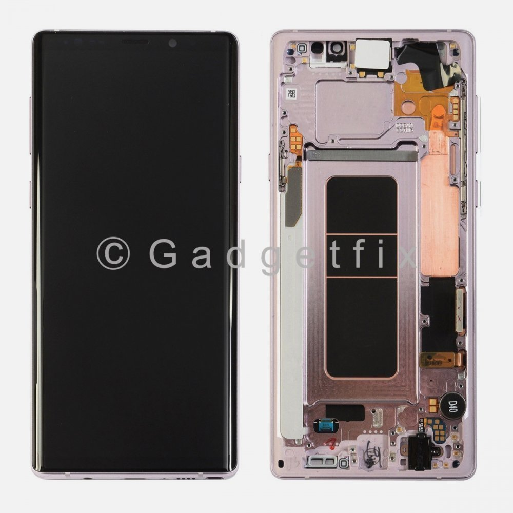 Purple LCD Display Touch Screen Digitizer Frame For Samsung Galaxy Note 9