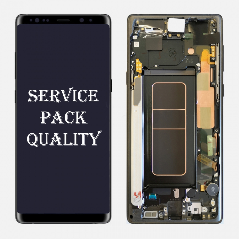 Black LCD Display Touch Screen Digitizer Frame For Samsung Galaxy Note 9 (Service Pack)
