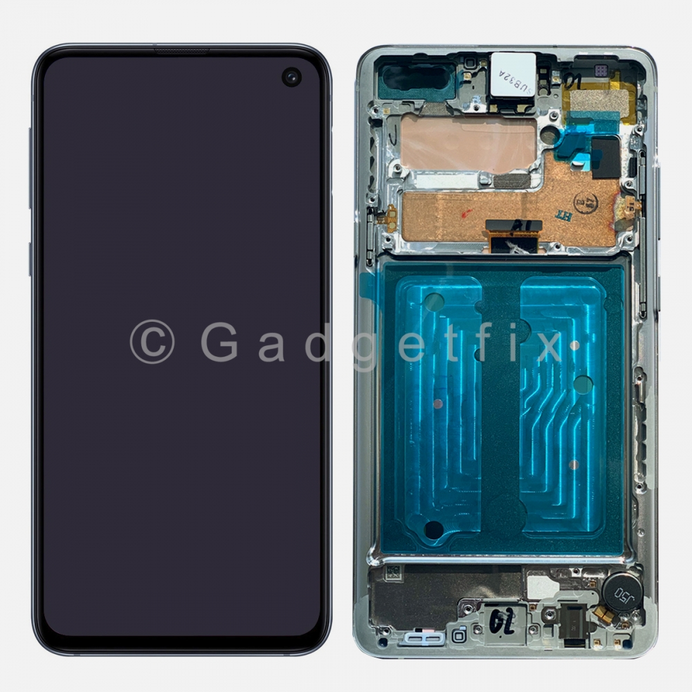 Black AMOLED LCD Touch Screen Digitizer + Frame For Samsung Galaxy S10 5G