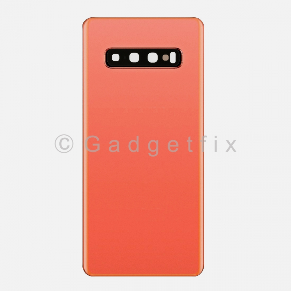 Pink Back Cover Glass Battery Door Camera Lens for Samsung Galaxy S10