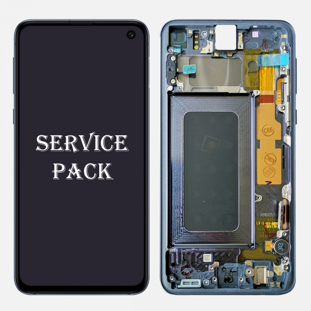 Black Amoled LCD Display Touch Screen Digitizer + Frame Samsung Galaxy S10e (Service Pack)