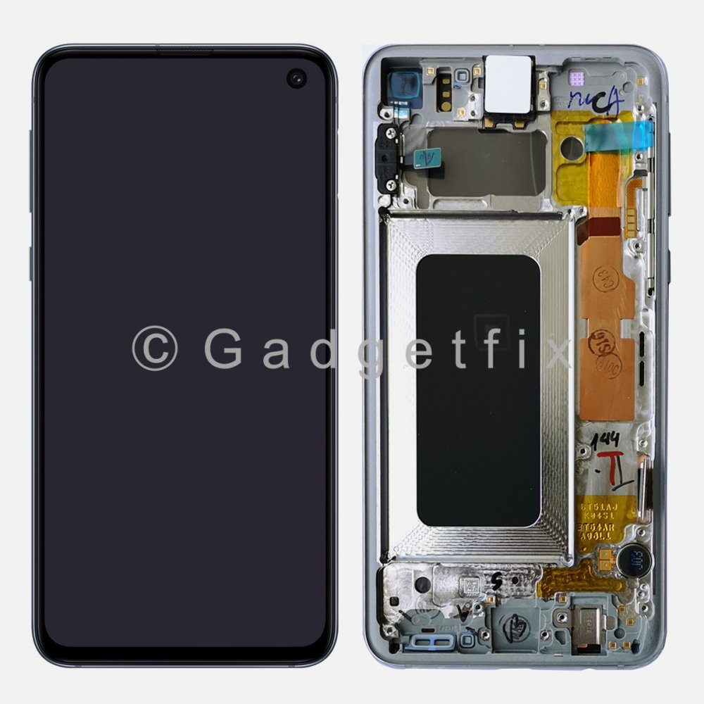 LCD Display Touch Screen Digitizer + Frame For White Samsung Galaxy S10e Amoled