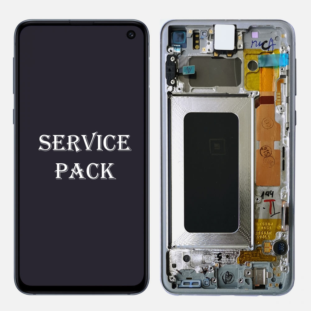 White Amoled LCD Display Touch Screen Digitizer + Frame For Samsung Galaxy S10e (Service Pack)