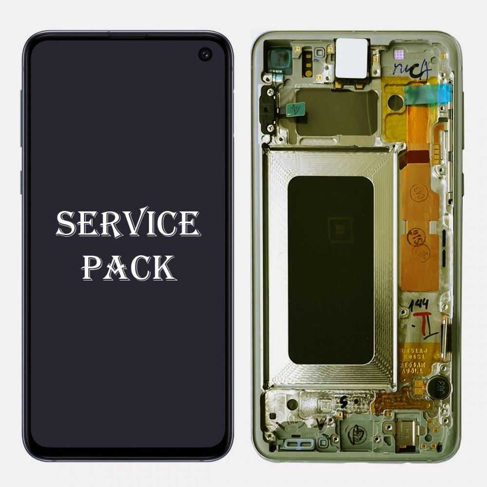 Yellow Amoled LCD Display Touch Screen Digitizer + Frame Samsung Galaxy S10e (Service Pack)