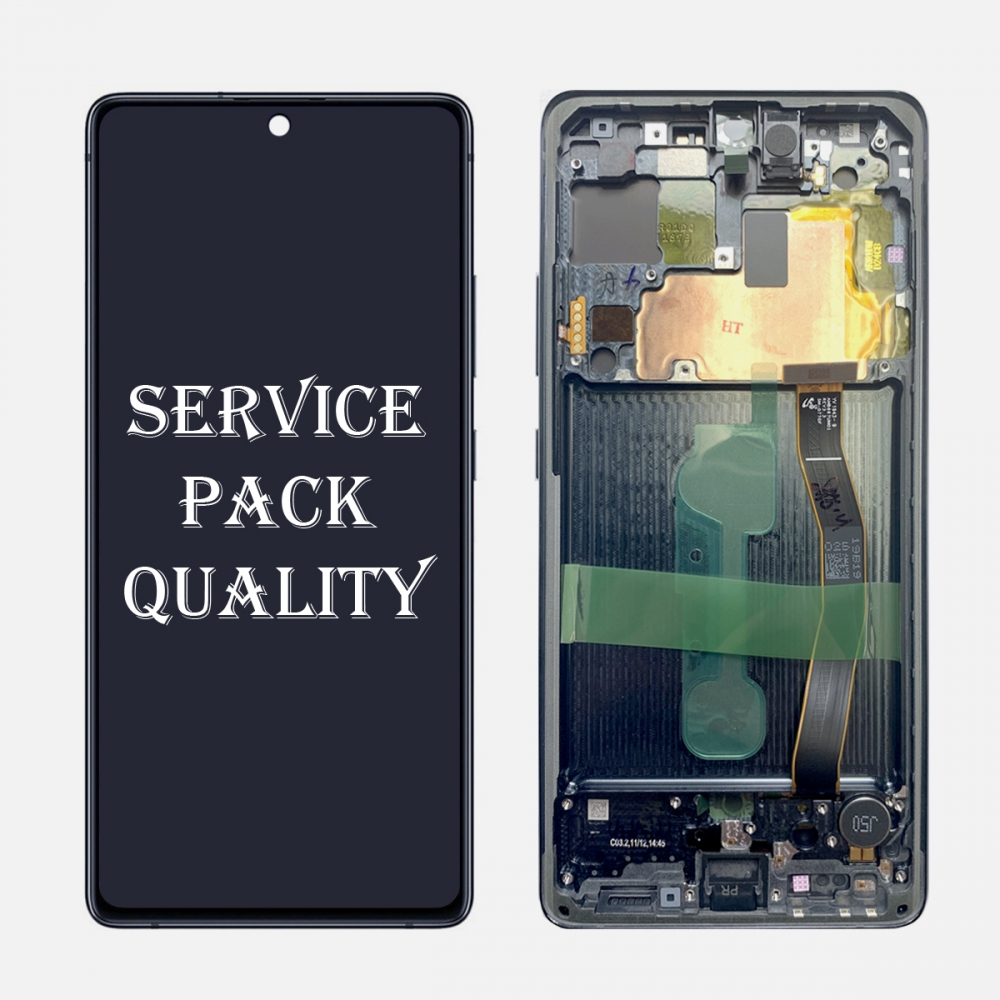 Black Display LCD Touch Screen Digitizer Frame For Samsung Galaxy S10 Lite G770F/DS (Service Pack)