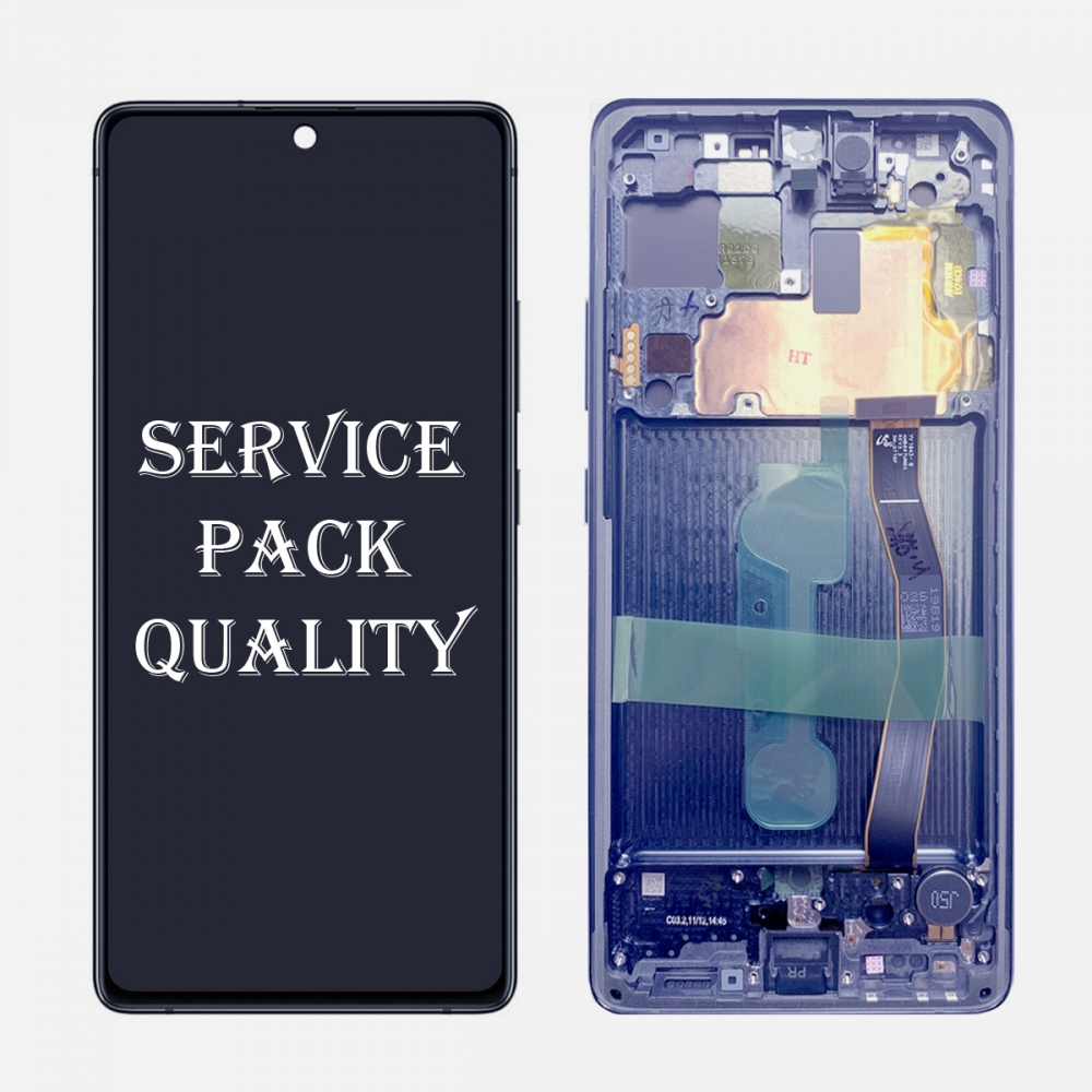 Blue Display LCD Touch Screen Digitizer Frame For Samsung Galaxy S10 Lite G770F/DS (Service Pack)