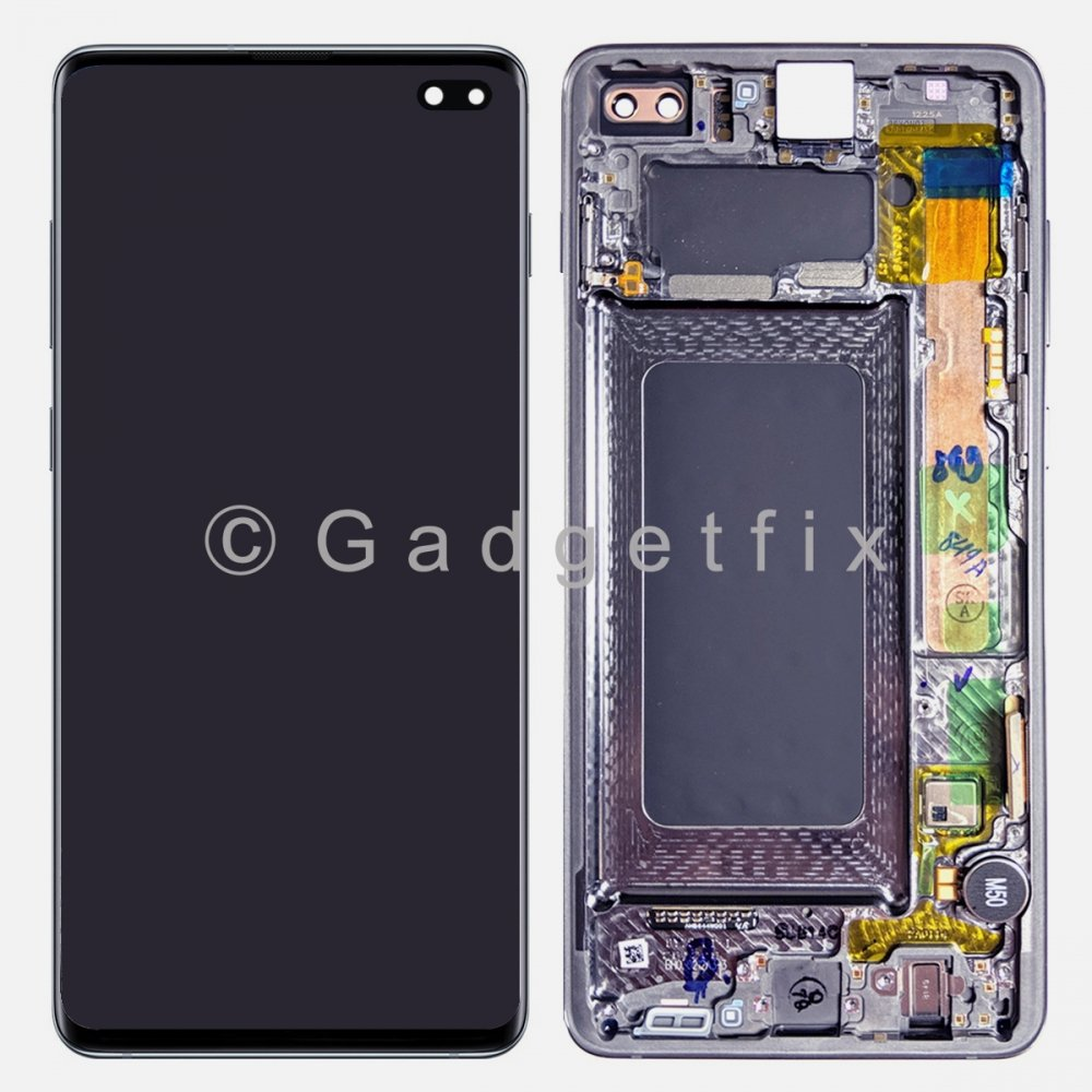Blue OLED Display LCD Touch Screen Digitizer Frame For Samsung Galaxy S10 Plus