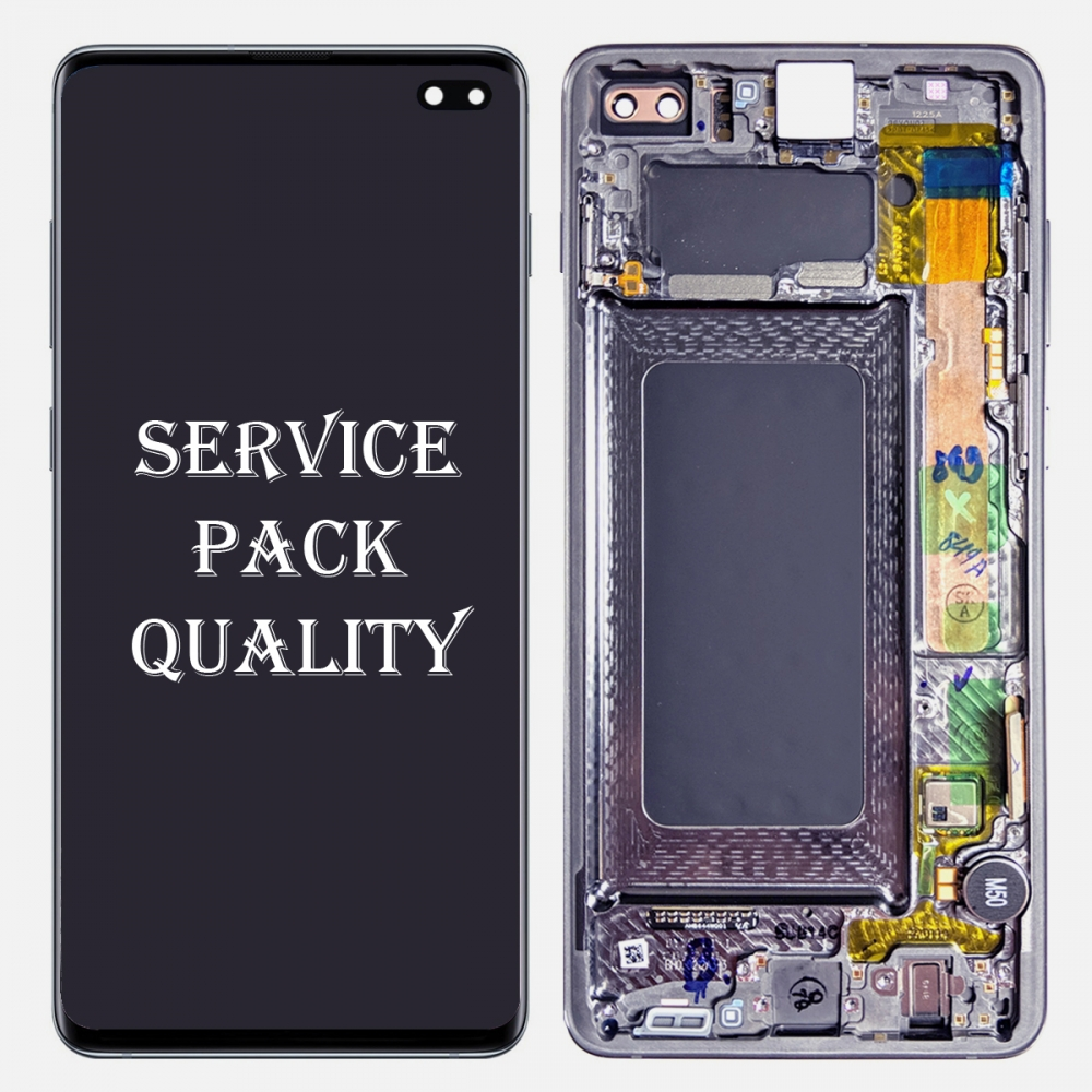 Prism Blue Display LCD Touch Screen Digitizer Frame For Samsung Galaxy S10 Plus (Service Pack)