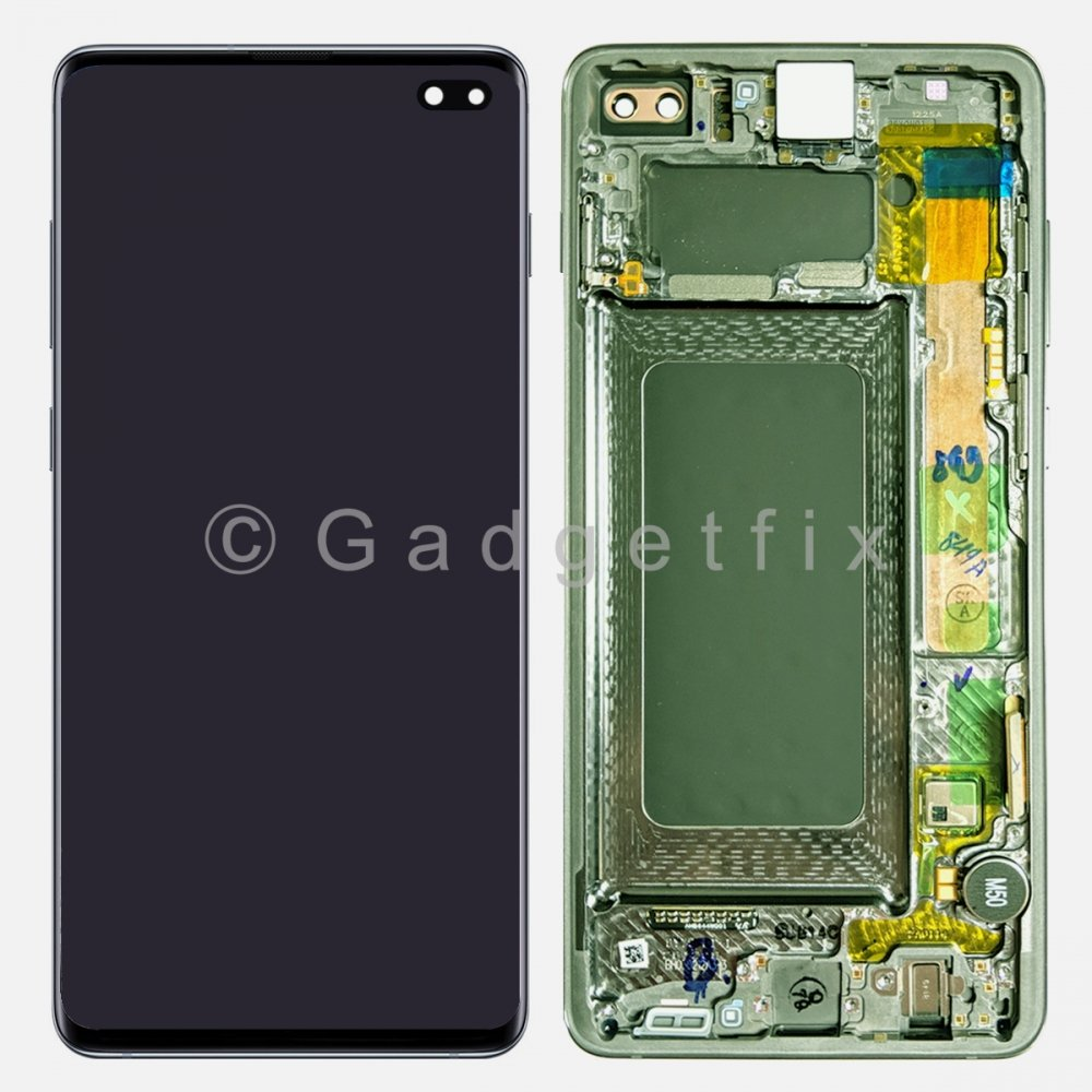 Green OLED Display LCD Touch Screen Digitizer Frame For Samsung Galaxy S10 Plus