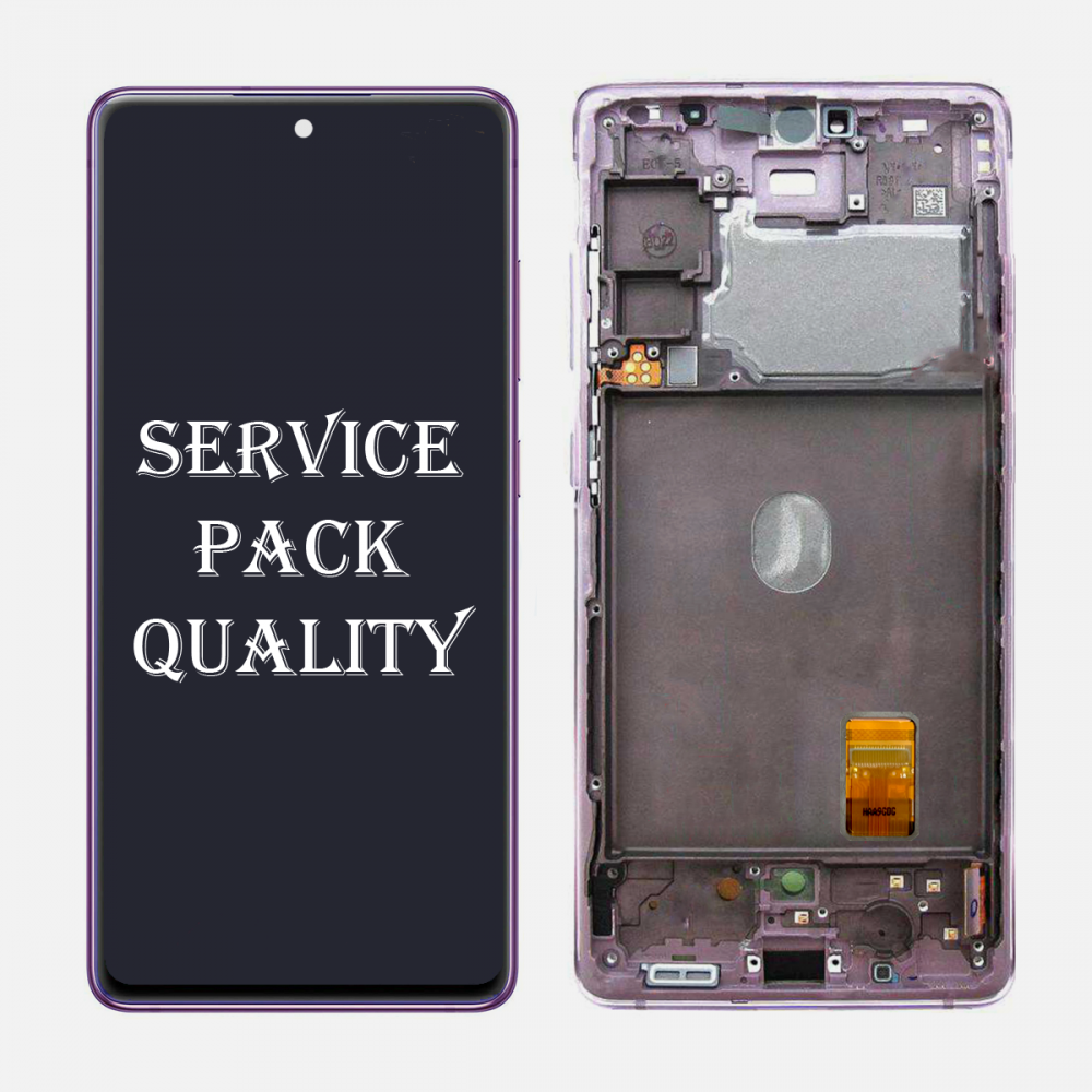 Lavender Samsung Galaxy S20 FE 5G OLED Display LCD Touch Screen Digitizer + Frame (Service Pack)