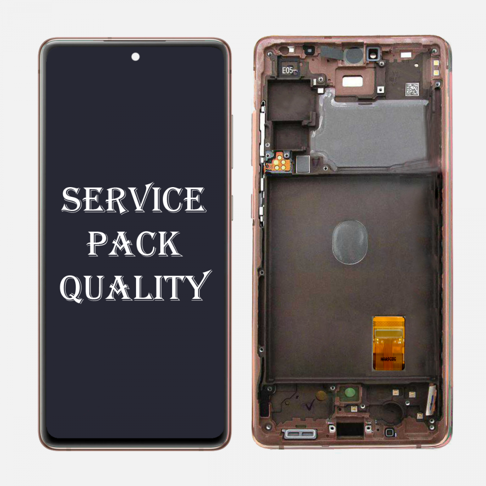 Orange Samsung Galaxy S20 FE 5G OLED Display LCD Touch Screen Digitizer + Frame (Service Pack)