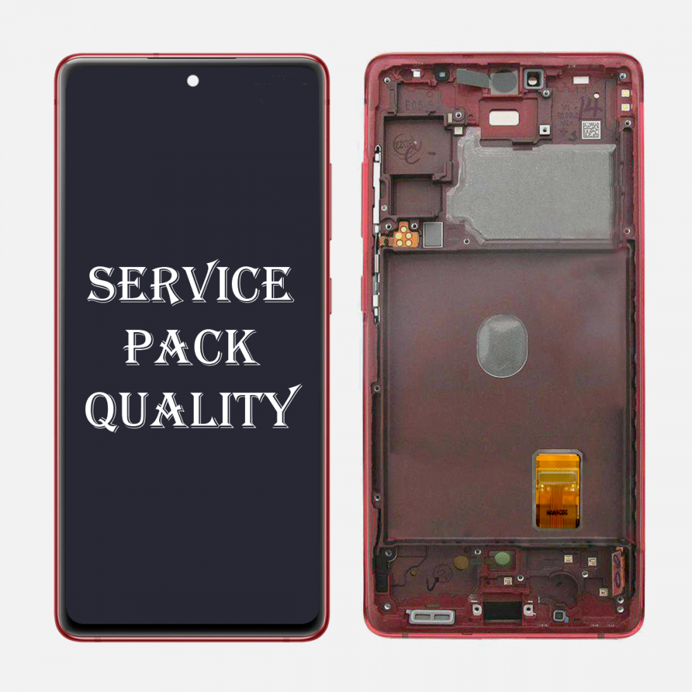 Red Samsung Galaxy S20 FE 5G OLED Display LCD Touch Screen Digitizer + Frame (Service Pack)