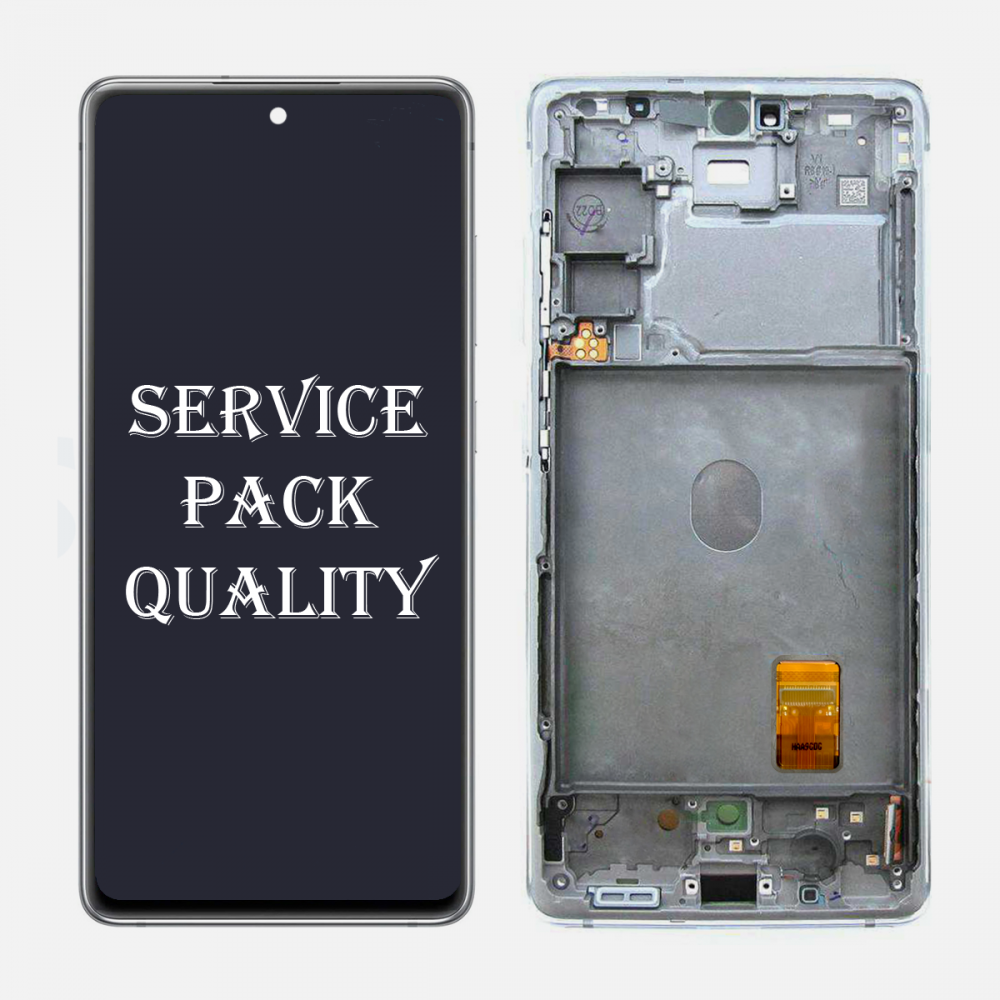 White Samsung Galaxy S20 FE 5G OLED Display LCD Touch Screen Digitizer + Frame (Service Pack)
