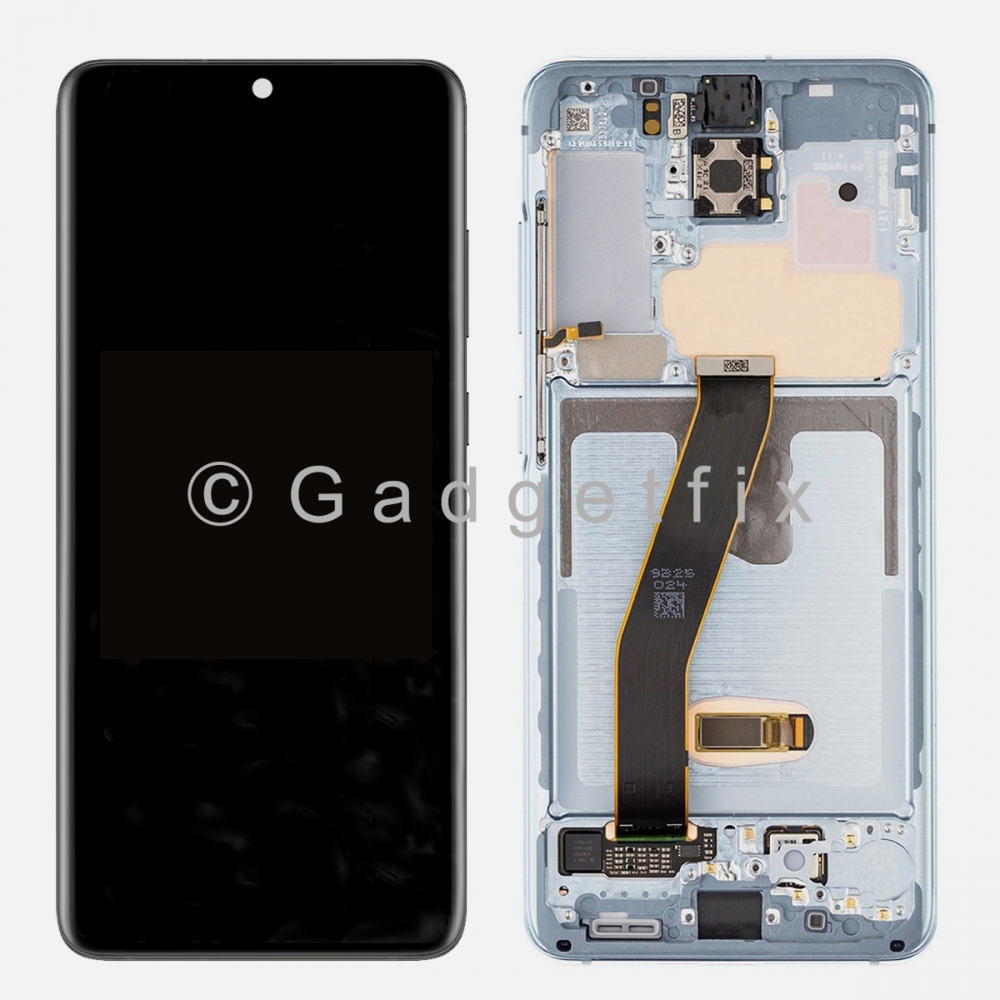 Blue Amoled LCD Touch Screen Digitizer + Frame For Samsung Galaxy S20 5G