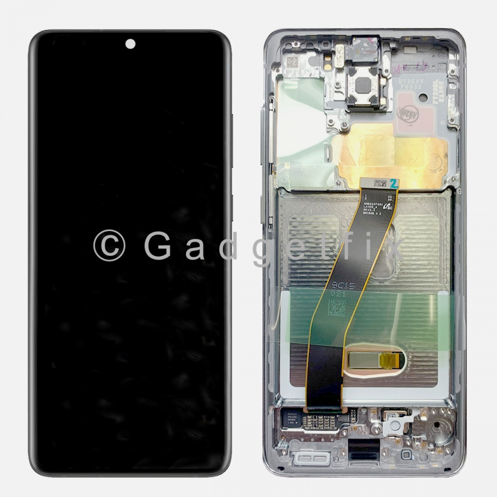 White Amoled LCD Touch Screen Digitizer + Frame For Samsung Galaxy S20 5G