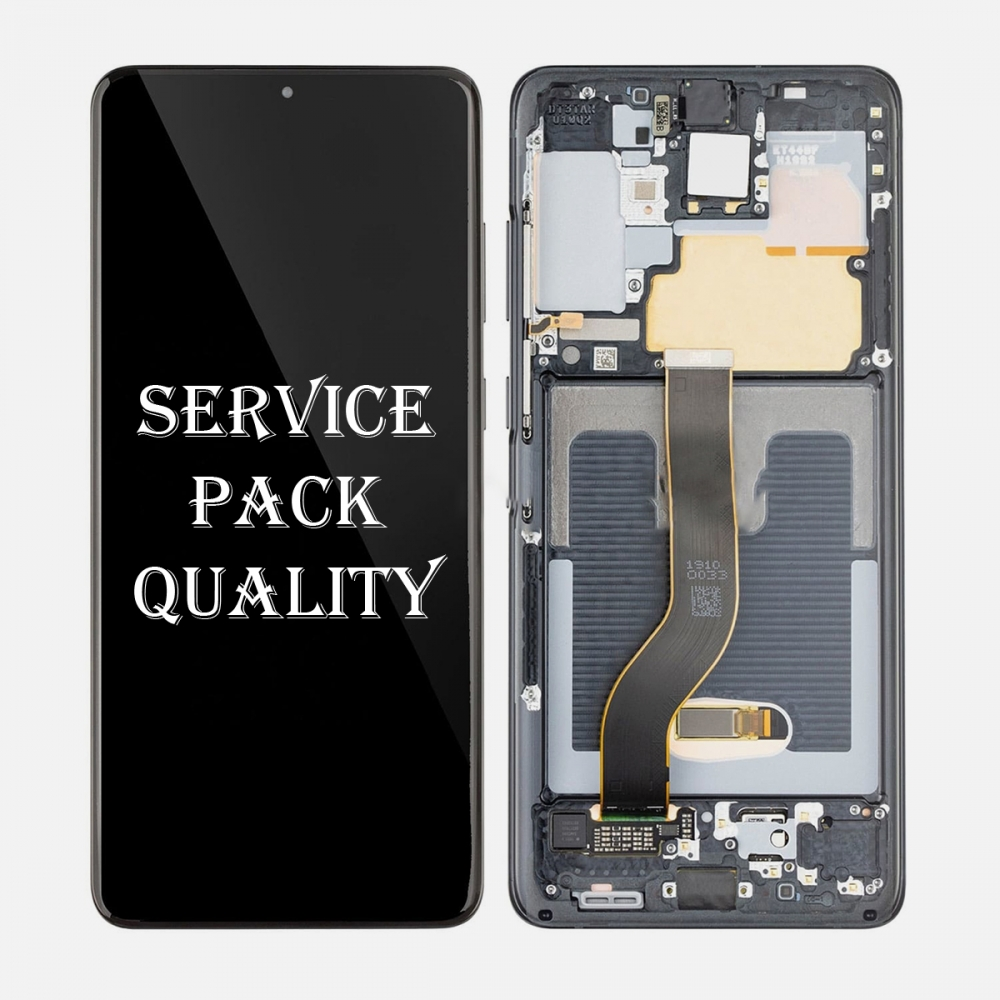 Black Amoled LCD Touch Screen Digitizer + Frame For Samsung Galaxy S20+ Plus 5G (Service Pack)