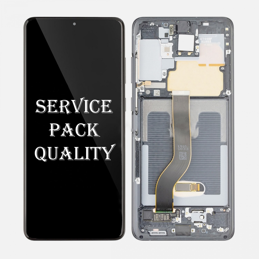Gray Amoled LCD Touch Screen Digitizer + Frame For Samsung Galaxy S20+ Plus 5G (Service Pack)