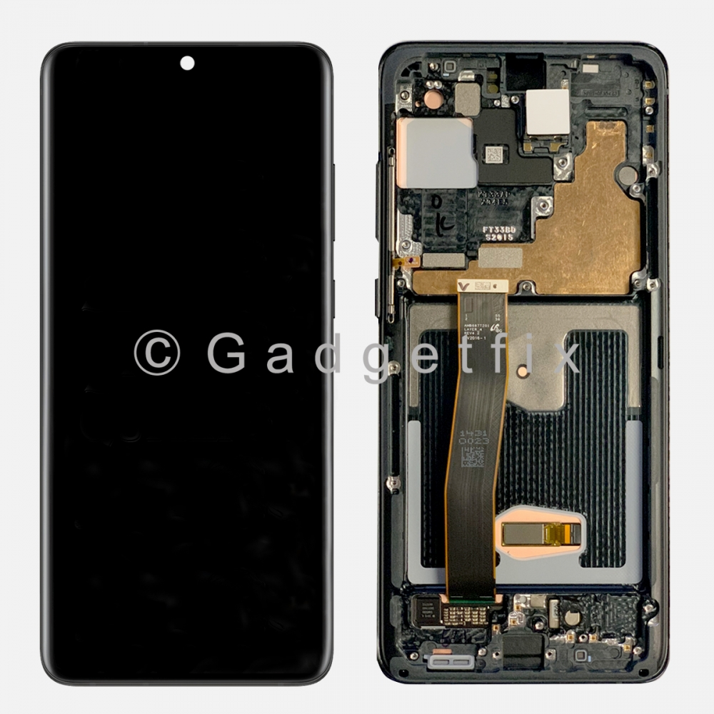 Black Amoled Display LCD Touch Screen Digitizer + Frame For Samsung Galaxy S20 Ultra 5G