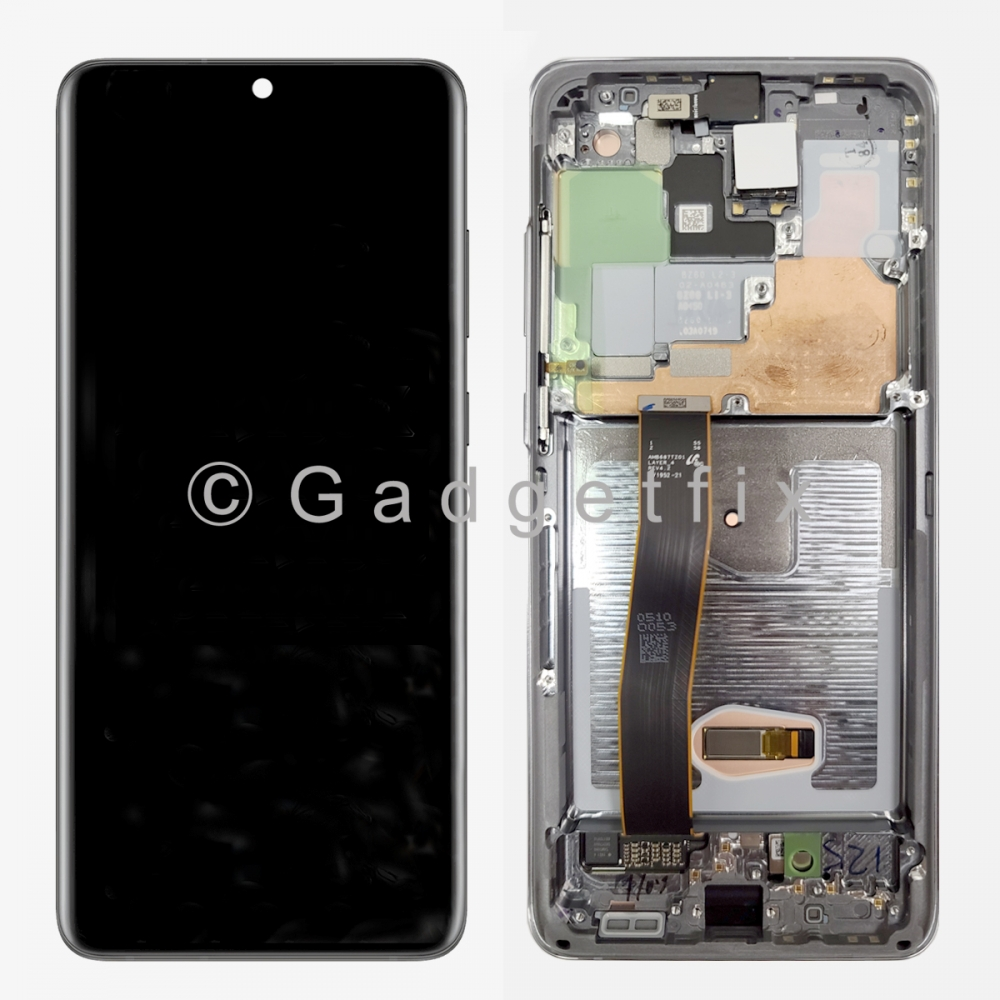 White Amoled LCD Touch Screen Digitizer + Frame For Samsung Galaxy S20 Ultra 5G